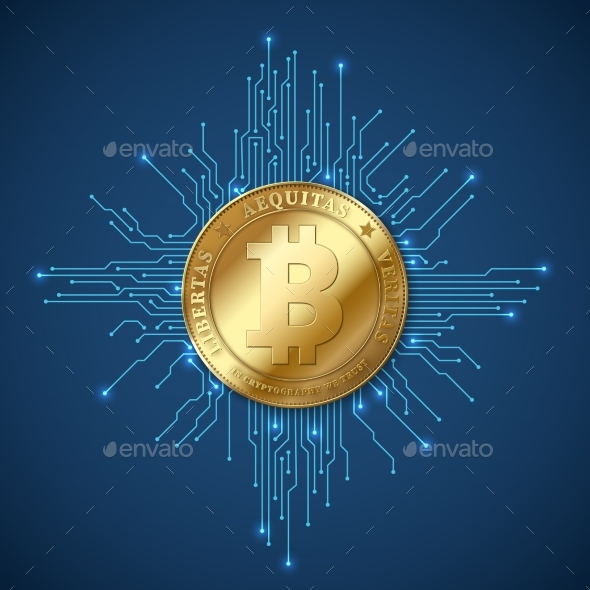 Crypto Currency Bitcoin - Backgrounds Decorative