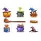Cartoon Halloween Icons - GraphicRiver Item for Sale