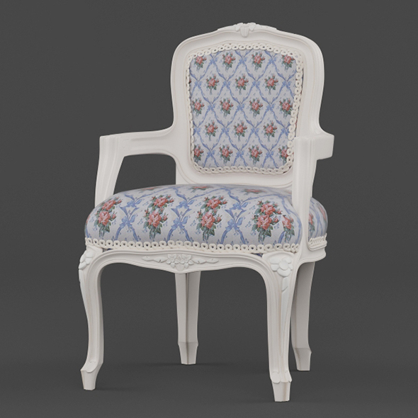 Vray Ready Royal Wooden Arm Chair - 3DOcean Item for Sale