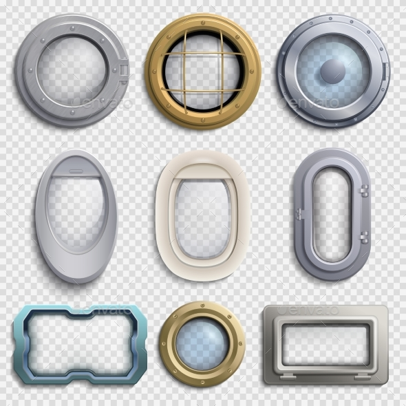GraphicRiver Various Portholes Isolated Vector Set 20340794