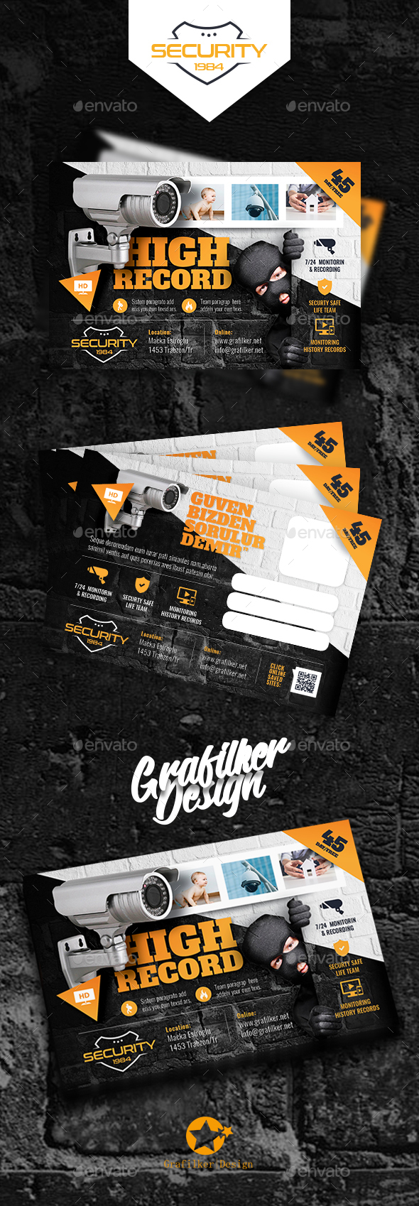 Security System Postcard Templates - Cards & Invites Print Templates