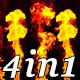 Beat Flames - VJ Loop Pack (4in1) - VideoHive Item for Sale