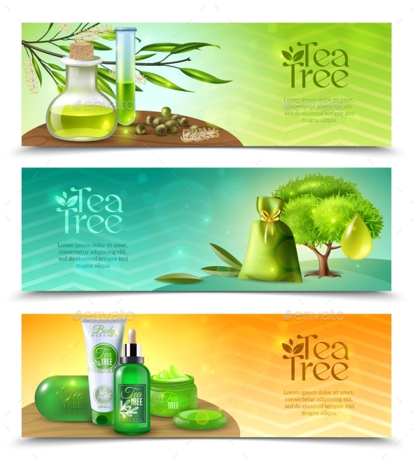 Tea Tree Horizontal Banners - Flowers & Plants Nature