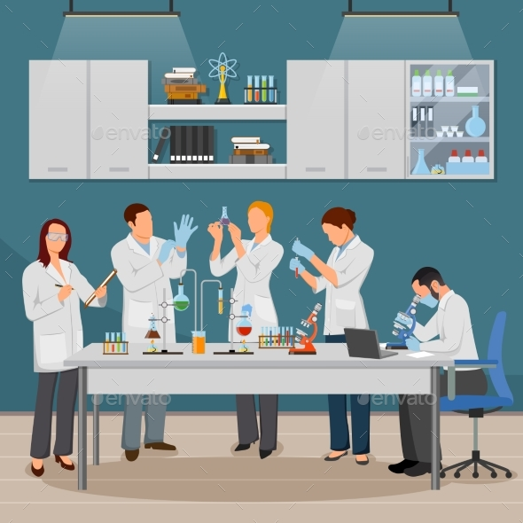 GraphicRiver Science and Laboratory Illustration 20340934