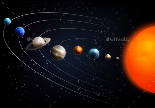 Realistic Space Background - Backgrounds Decorative
