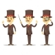 Vector Illustration - Funny Cartoon Victorian