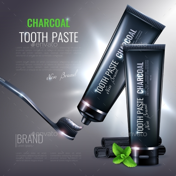 GraphicRiver Charcoal Tooth Paste Poster 20341056