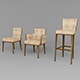 Vray Ready Wooden Chair Collection
