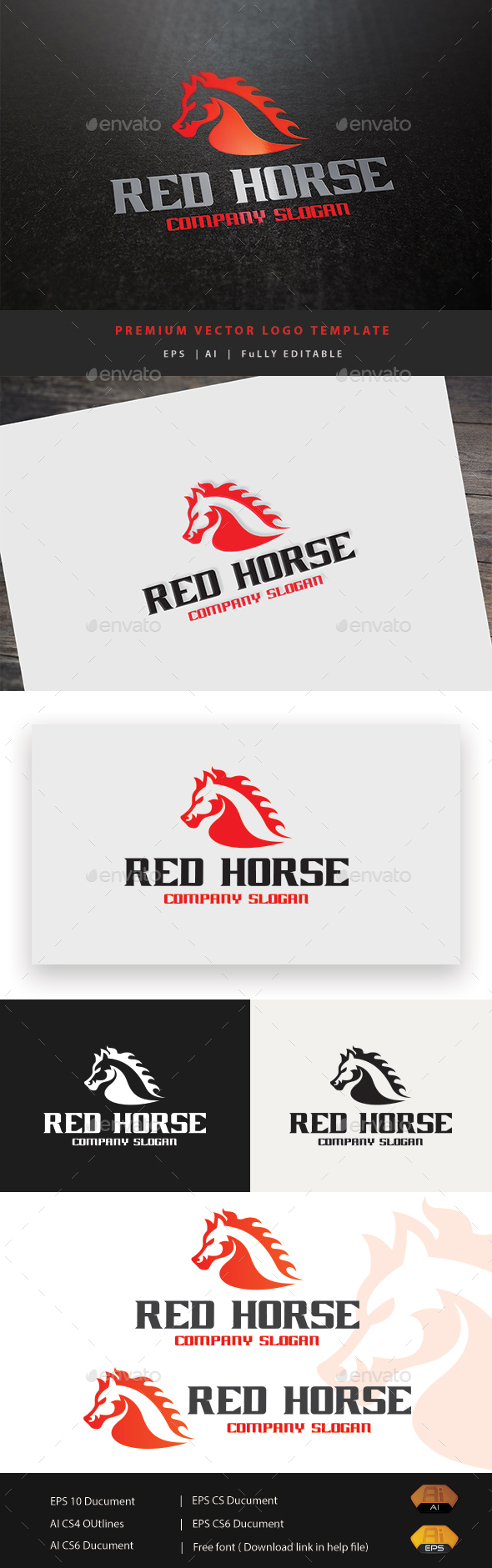 GraphicRiver Red Horse 20341080
