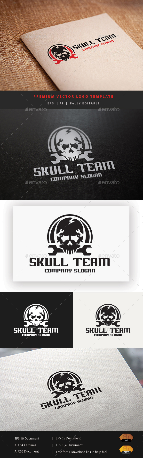 Skull Team - Humans Logo Templates