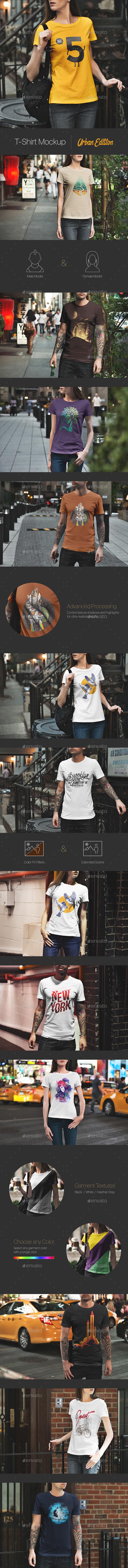 T-Shirt Mockup / Urban Edition - T-shirts Apparel