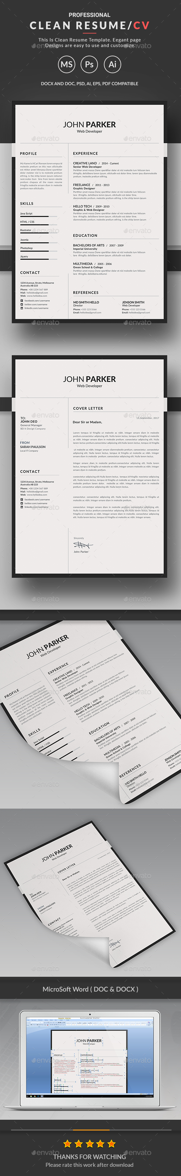 GraphicRiver Resume 20341332