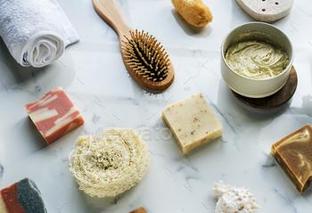 Natural homemade organic soap bar