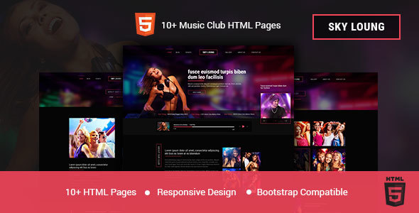 Image of Sky Loung - DJ, Music, Club HTML Template