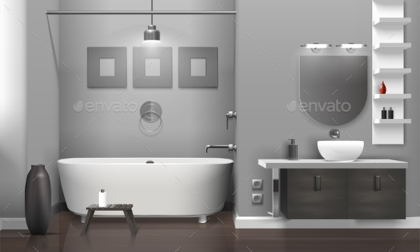 GraphicRiver Realistic Bathroom Interior 20341750