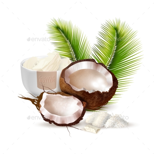 GraphicRiver Coconut Realistic Illustration 20341754