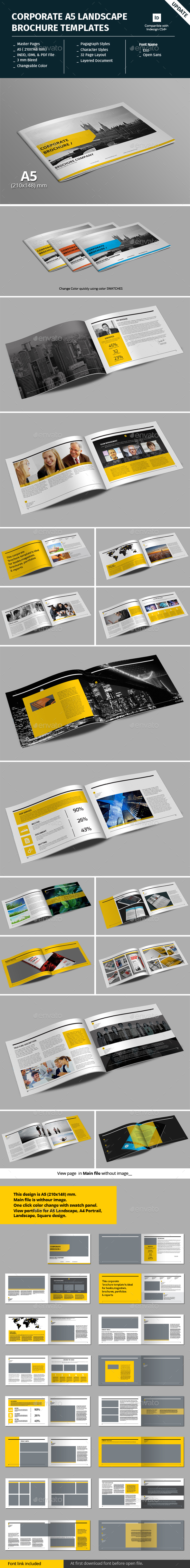 corporate a5 landscape brochure template corporate brochures