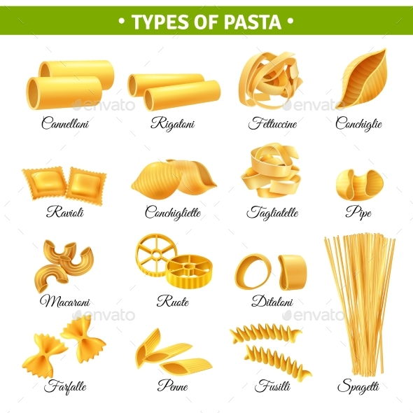 GraphicRiver Pasta Types 20341764