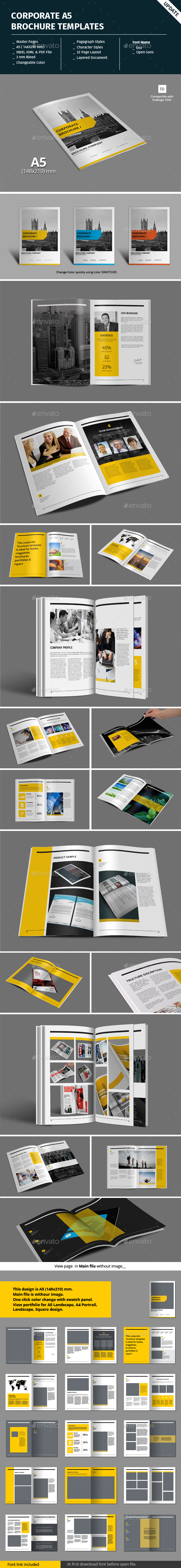 Corporate A5 Brochure Template - Corporate Brochures