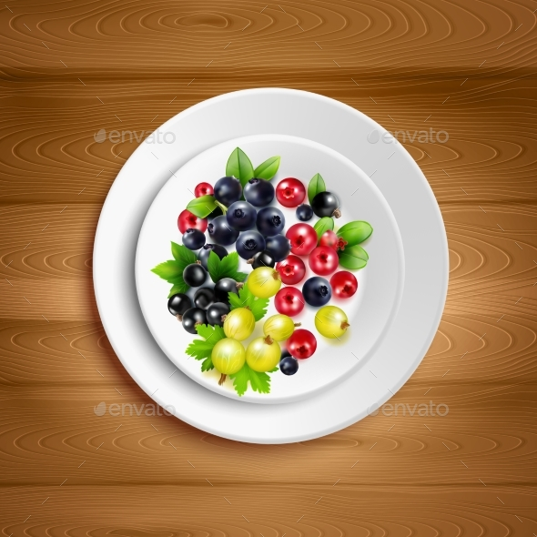 GraphicRiver Berry Plate Realistic Vector Illustration 20341830