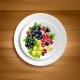 Berry Plate Realistic Vector Illustration
