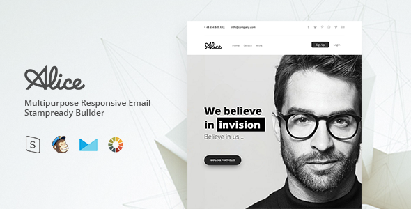 Alice - Responsive Email Template Minimal