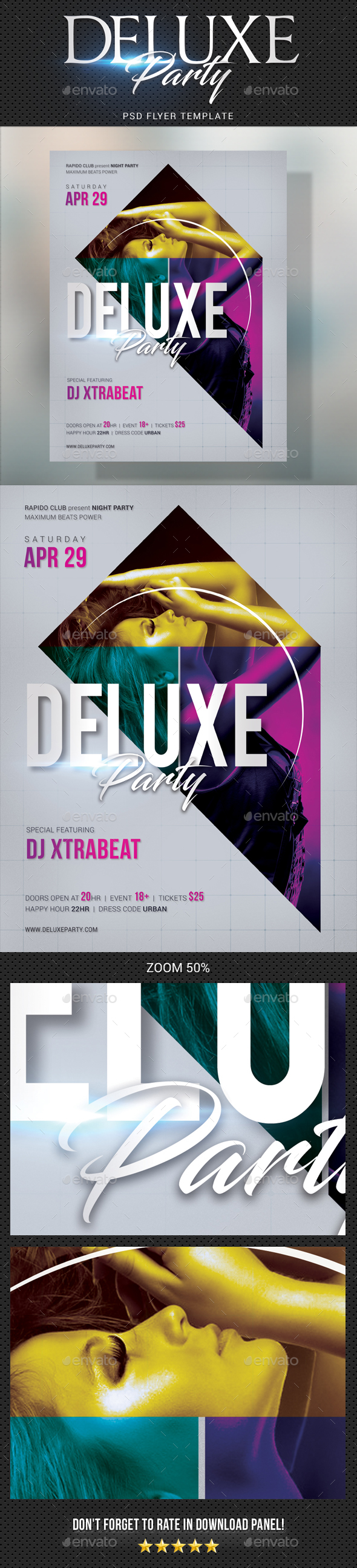 Deluxe Dj Party Flyer 02 - Clubs & Parties Events