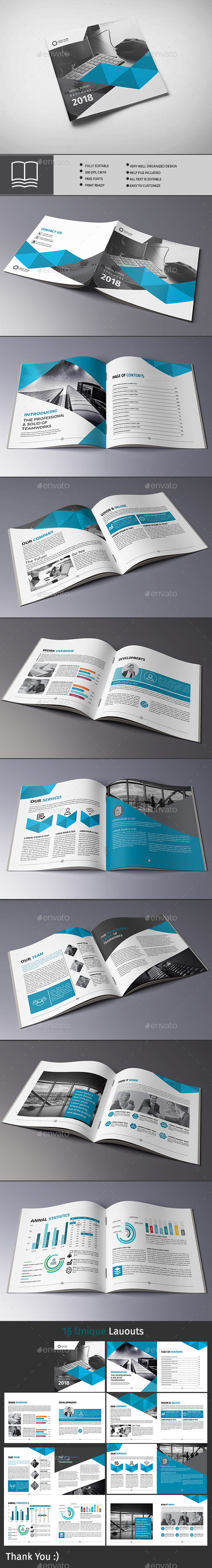 company profile Square - Brochures Print Templates