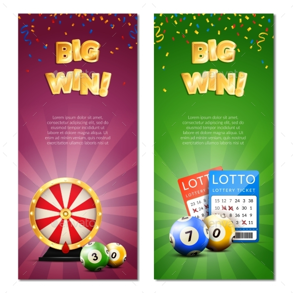 Bingo Lottery Vertical Banners - Sports/Activity Conceptual