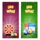 Bingo Lottery Vertical Banners - GraphicRiver Item for Sale