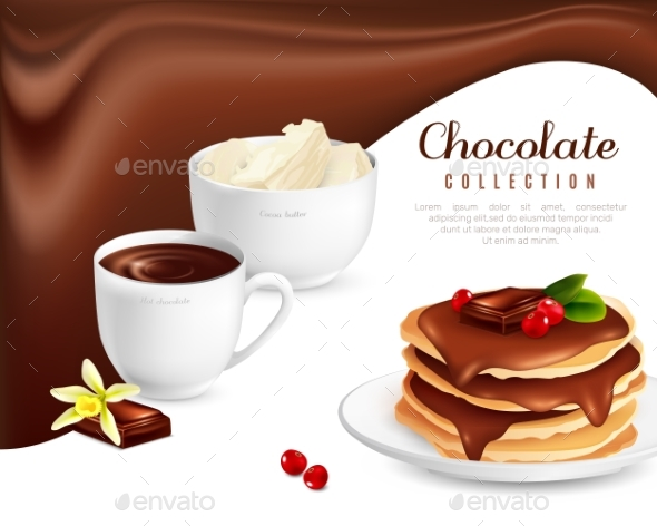 Chocolate Collection Poster - Food Objects
