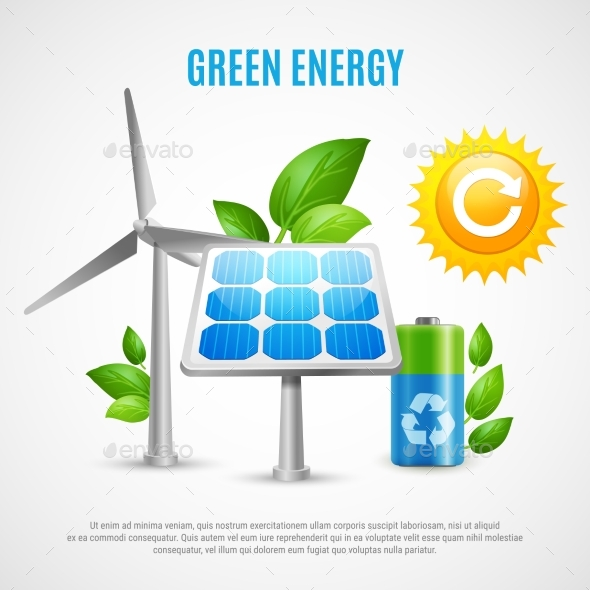 GraphicRiver Green Energy Realistic Vector Illustration 20341917