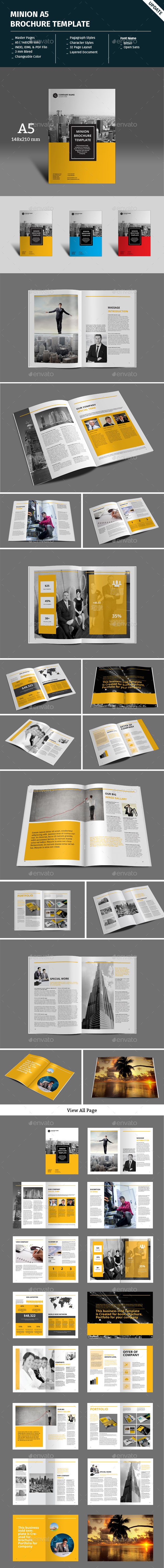 Minion A5 Portrait Brochure Template - Corporate Brochures