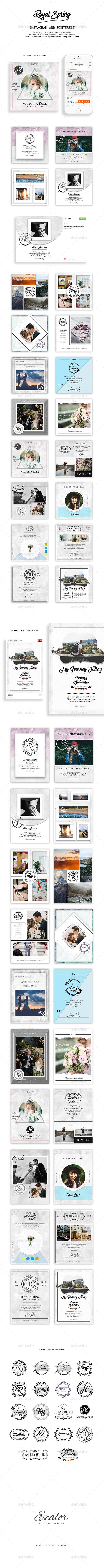 Instagram Royal Spring - Social Media Web Elements