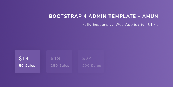 Bootstrap 4 Admin Template - Amun - Admin Templates Site Templates