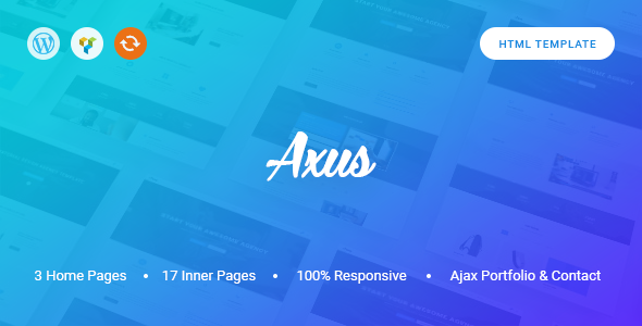 Axus - Clean One Page Template