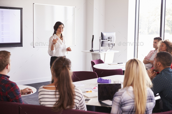 University Students Attending Lecture On Campus - Stock Photo - Images