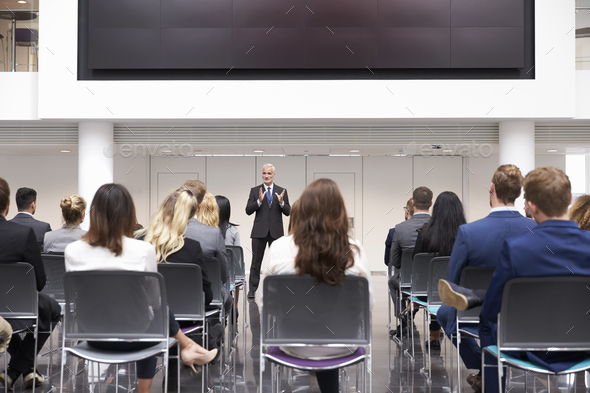 Mature Businessman Making Presentation At Conference - Stock Photo - Images