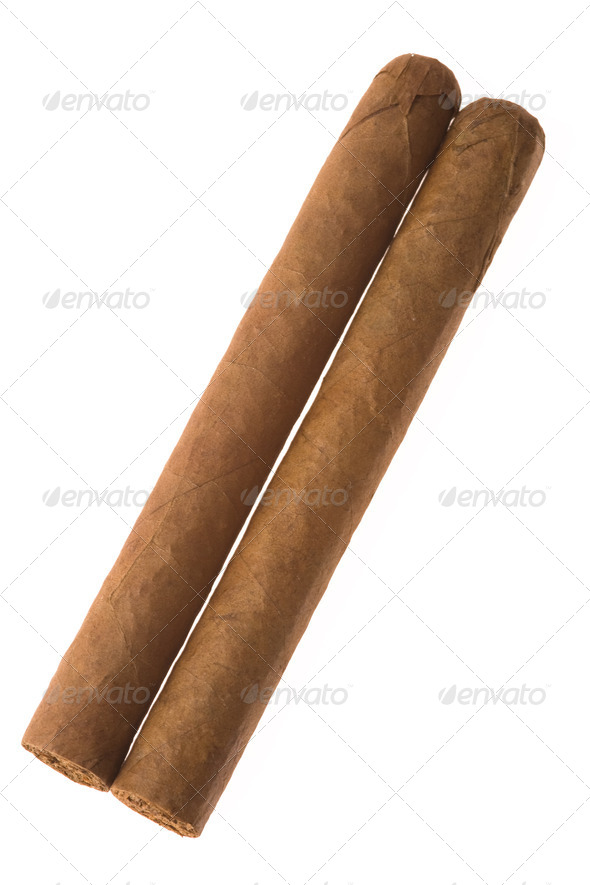 two cuban cigar - Stock Photo - Images