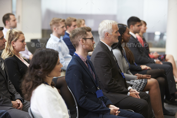 Audience Listening To  Speaker At Conference Presentation - Stock Photo - Images