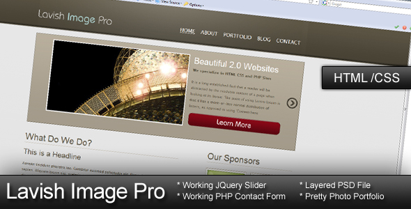 Free Download Lavish Image Pro - HTML CSS Template Nulled Latest Version