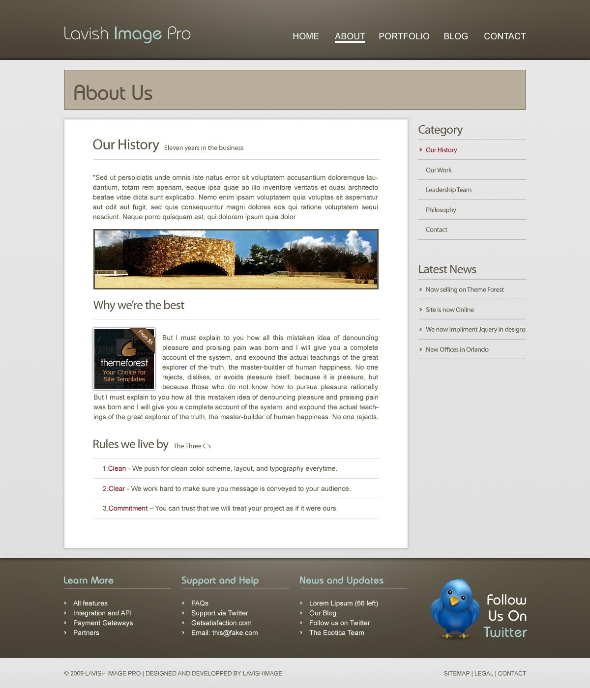 Lavish Image Pro - HTML CSS Template by amiridon   ThemeForest