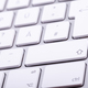 White aluminum keyboard in close up - PhotoDune Item for Sale