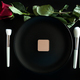 Conceptual image of make up brushes next to dinner plate - PhotoDune Item for Sale