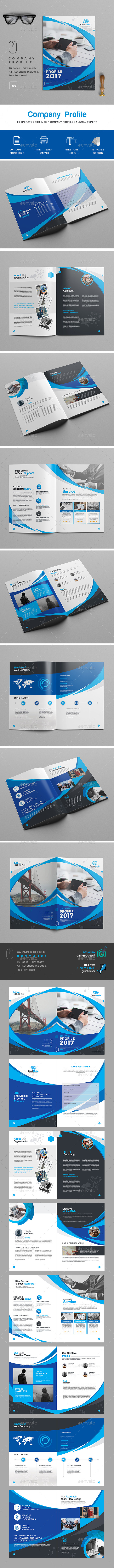 Company  Profile Template - Brochures Print Templates