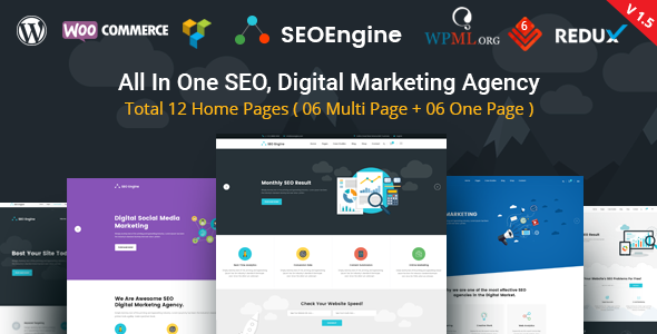 SEO Engine - SEO & Digital Marketing Agency WordPress Theme - Marketing Corporate