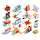 16 Online Shopping Isometric