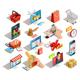 16 Online Shopping Isometric