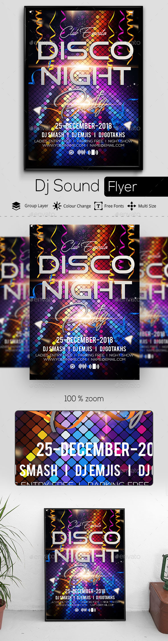 Disco Night Flyer - Clubs & Parties Events