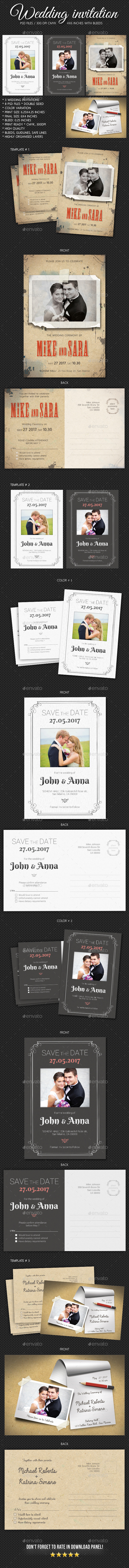 Wedding Invitation Bundle 2 - Weddings Cards & Invites